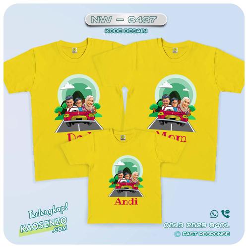Baju Kaos Couple Keluarga | Kaos Family Custom Foto - NW 3437
