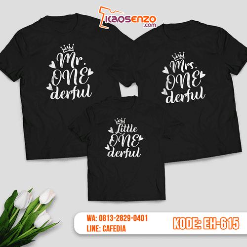 Baju Kaos Couple Keluarga | Kaos Family Custom Motif Onederful - EH 615