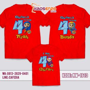 Kaos Couple Keluarga Go Jetters | Kaos Ulang Tahun Anak | Kaos Go Jetters - NW 1613