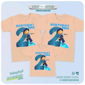 Baju Kaos Couple Keluarga   Kaos Family Custom Boboiboy - NW 2715