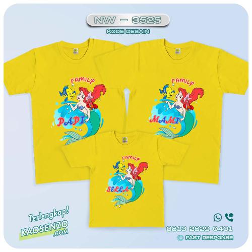 Baju Kaos Couple Keluarga Mermaid | Kaos Family Custom | Kaos Mermaid - NW 3525