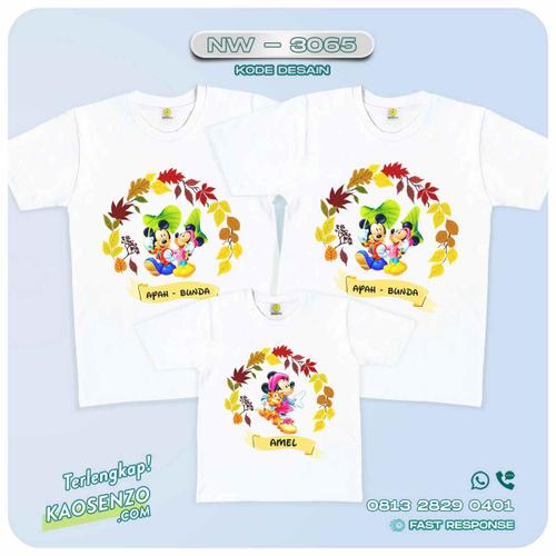Baju Kaos Couple Keluarga Mickey Minnie Mouse   Kaos Family Custom   Kaos Mickey Minnie Mouse - NW 3065