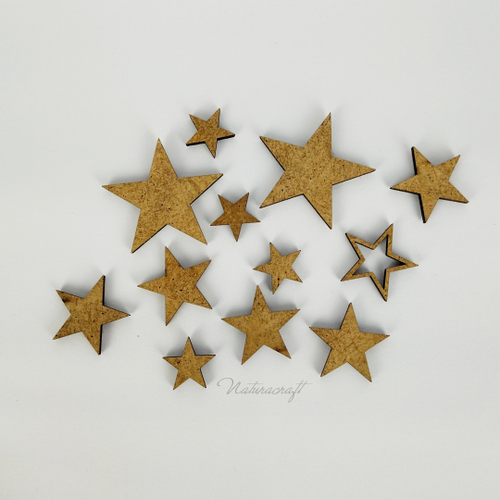 Daily Art Hardboard Shapes Small Pack - Stars