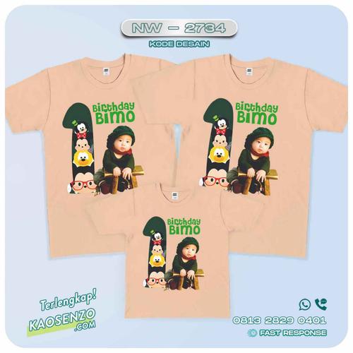 Baju Kaos Couple Keluarga Tsum Tsum | Kaos Family Custom | Kaos Tsum Tsum - NW 2734