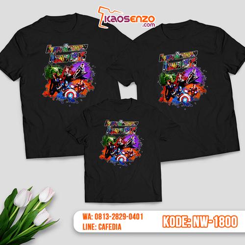 Kaos Couple Keluarga Superhero Avengers | Kaos Ulang Tahun Anak | Kaos Superhero Avengers - NW 1800