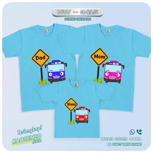 Baju Kaos Couple Keluarga Tayo | Kaos Family Custom | Kaos Tayo - NW 3415