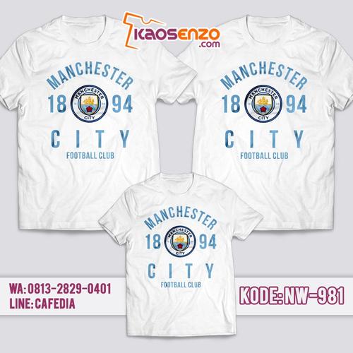 Baju Kaos Couple Keluarga | Kaos Family Custom Manchester City - NW 981