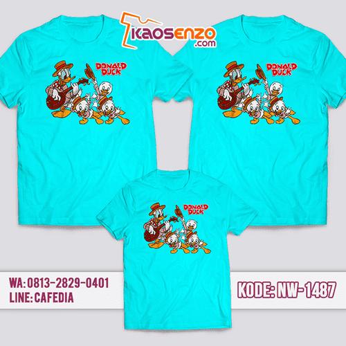 Baju Kaos Couple Keluarga Donald Duck | Kaos Family Custom | Kaos Donald duck- NW 1487