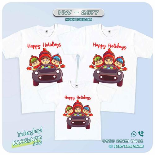 Baju Kaos Couple Keluarga Natal | Kaos Family Custom | Kaos Natal - NW 2677