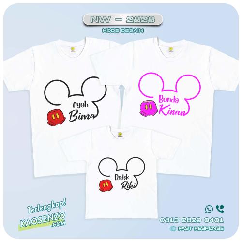 Baju Kaos Couple Keluarga Mickey Minnie Mouse   Kaos Ultah Anak   Kaos Mickey Minnie Mouse - NW 2828