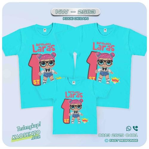 Baju Kaos Couple Keluarga LOL Doll | Kaos Family Custom | Kaos LOL Doll - NW 2583