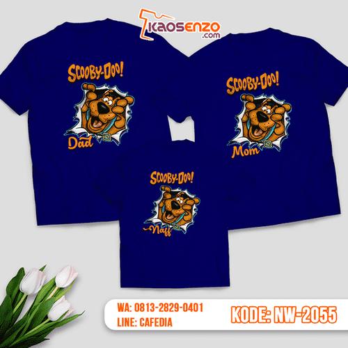 Baju Kaos Couple Keluarga Scooby Doo   Kaos Family Custom   Kaos Scooby Doo - NW 2055