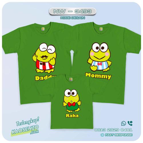 Baju Kaos Couple Keluarga Keroppi   Kaos Family Custom   Kaos Keroppi - NW 3493