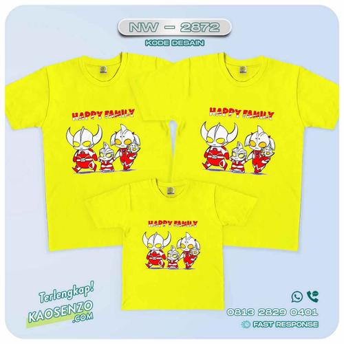 Baju Kaos Couple Keluarga   Kaos Family Custom Ultraman - NW 2872