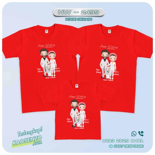 Baju Kaos Couple Keluarga   Kaos Family Custom Anniversary - NW 2499