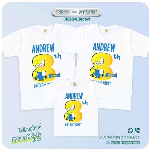 Baju Kaos Couple Keluarga Minion | Kaos Family Custom | Kaos Minion - NW 3007