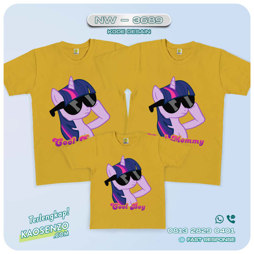 Baju Kaos Couple Keluarga Little Pony   Kaos Family Custom   Kaos Little Pony - NW 3689