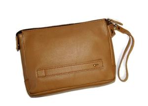 Pouch / Clutch / Handbag Kulit Asli Unisex - Parma Brown Beige