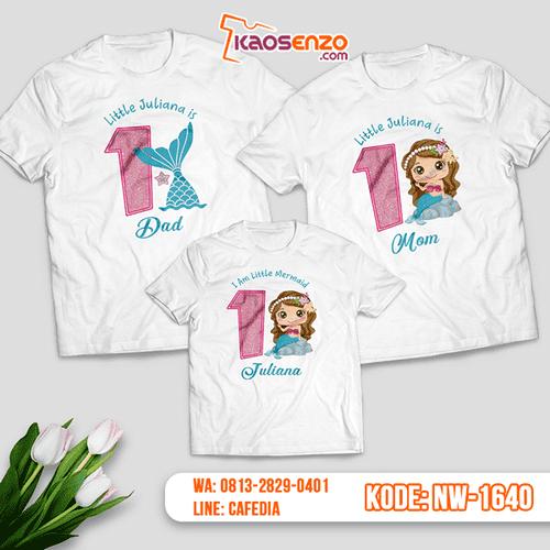 Baju Kaos Couple Keluarga Mermaid | Kaos Ultah Anak | Kaos Mermaid - NW 1640