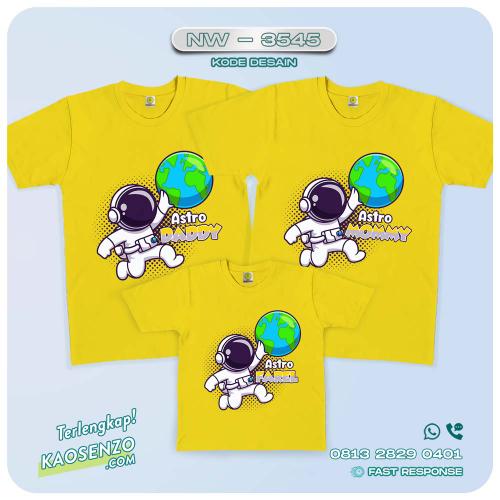 Baju Kaos Couple Keluarga Astronot | Kaos Family Custom | Kaos Astronot - NW 3545