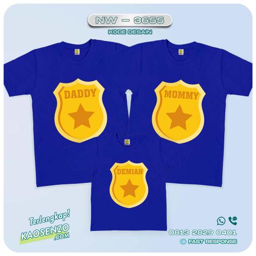 Baju Kaos Couple Keluarga Police   Kaos Ultah Anak   Kaos Police - NW 3655