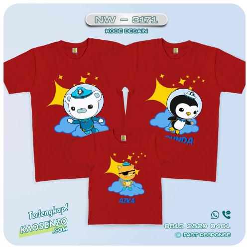 Kaos Couple Keluarga Octonauts | Kaos Ulang Tahun Anak | Kaos Octonauts - NW 3171