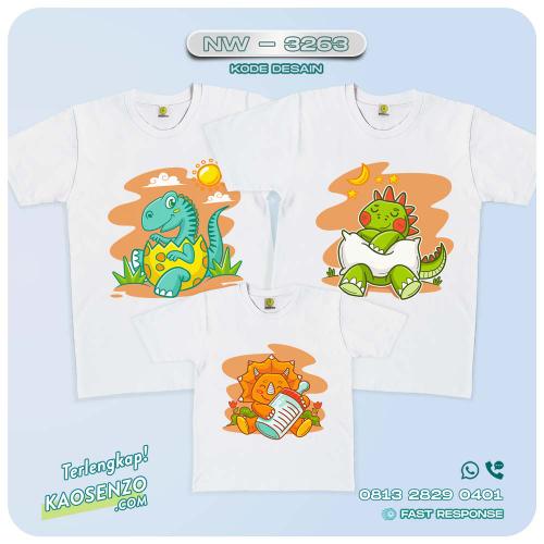 Baju Kaos Couple Keluarga Dinosaurus   Kaos Ultah Anak   Kaos Dinosaurus - NW 3263