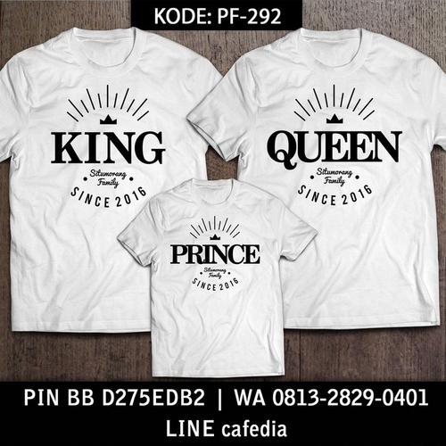 Baju Kaos Couple Keluarga | Kaos Family Custom King Queen - PF 292
