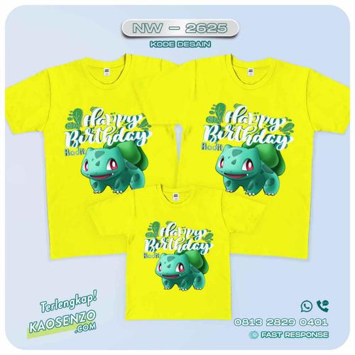Baju Kaos Couple Keluarga Pokemon | Kaos Family Custom | Kaos Pokemon - NW 2625