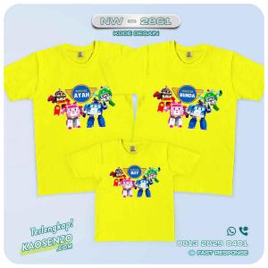 Kaos Couple Keluarga   Kaos Ulang Tahun Anak   Kaos Robocar Poli - NW 2861