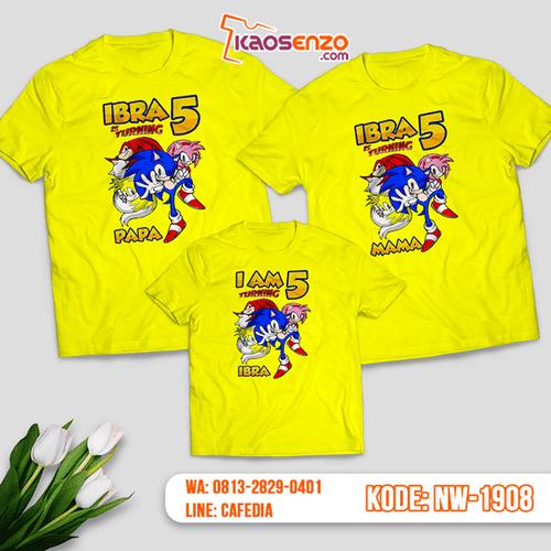 Kaos Couple Keluarga Sonic | Kaos Ulang Tahun Anak | Kaos Sonic - NW 1908