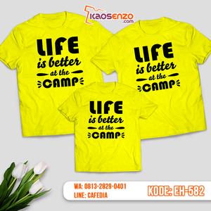Baju Kaos Couple Keluarga | Kaos Family Custom Motif Camp - EH 582