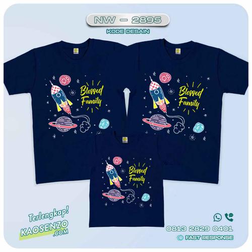 Baju Kaos Couple Keluarga Astronot | Kaos Family Custom | Kaos Astronot - NW 2895