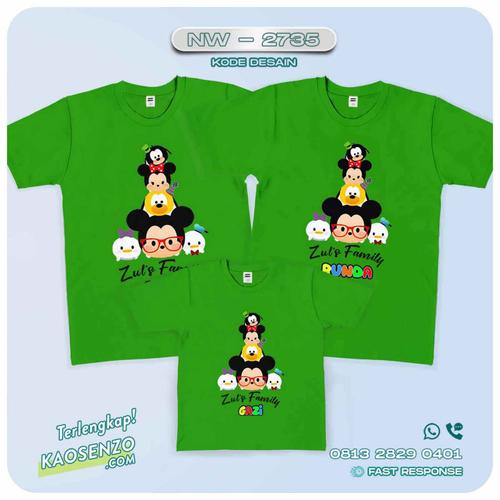 Baju Kaos Couple Keluarga Tsum Tsum | Kaos Family Custom | Kaos Tsum Tsum - NW 2735