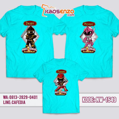 Baju Kaos Couple Keluarga Power Rangers | Kaos Family Custom | Kaos Power Rangers - NW 1549