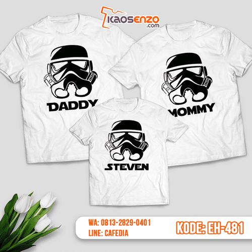 Baju Kaos Couple Keluarga | Kaos Family Custom Motif Star Wars - EH 481