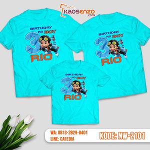 Kaos Couple Keluarga Rusty Rivets | Kaos Ulang Tahun Anak | Kaos Rusty Rivets - NW 2101