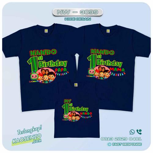 Kaos Couple Keluarga Cocomelon | Kaos Ultah Anak | Kaos Cocomelon - NW 3099