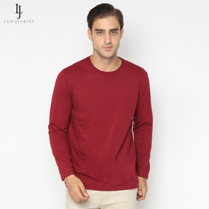 Maroon Basic Long Sleeve Tees