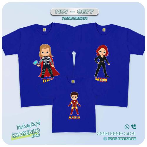 Kaos Couple Keluarga Avengers   Kaos Ulang Tahun Anak   Kaos Avengers - NW 3577