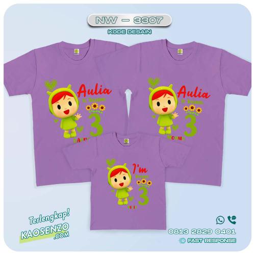 Kaos Couple Keluarga Pocoyo | Kaos Ulang Tahun Anak | Kaos Pocoyo - NW 3307