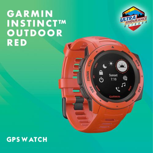 Jam Tangan Garmin Instinct Flame Red Outdoor GPS Watch Garansi Resmi Tam