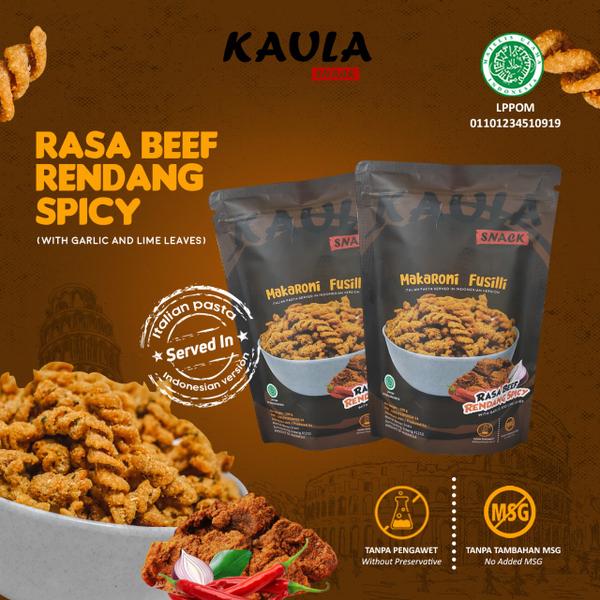 Kaula Makaroni Fusilli - Beef Rendang Spicy