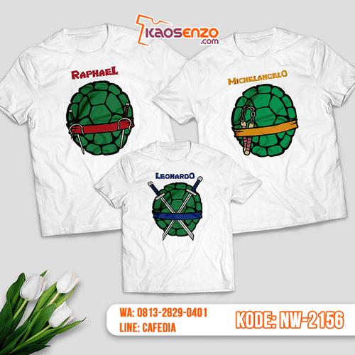 Baju Kaos Couple Keluarga Ninja Turtles | Kaos Family Custom | Kaos Ninja Turtles - NW 2156