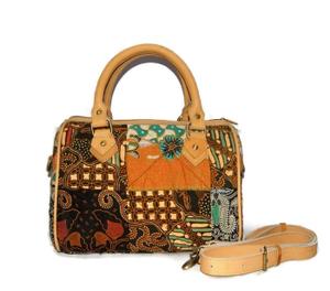 Tas Wanita Batik Kombinasi Kulit Asli Handbag + Tali Slempang - SB02