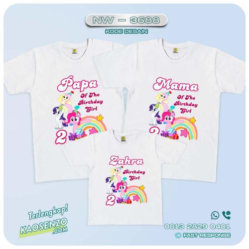 Baju Kaos Couple Keluarga Little Pony   Kaos Family Custom   Kaos Little Pony - NW 3688