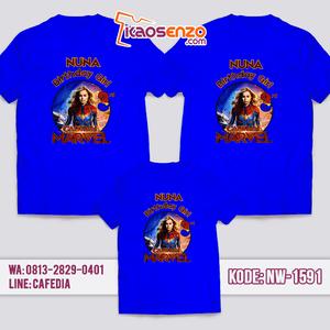 Kaos Couple Keluarga Captain Marvel   Kaos Ulang Tahun Anak   Kaos Captain Marvel - NW 1591