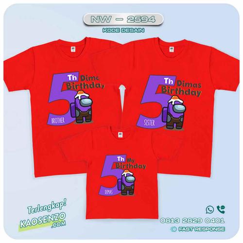 Baju Kaos Couple Keluarga | Kaos Ulang Tahun Anak | Kaos Among Us NW - 2594