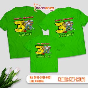 Kaos Couple Keluarga Ninja Turtles | Kaos Ulang Tahun Anak | Kaos Ninja Turtles - NW 2161