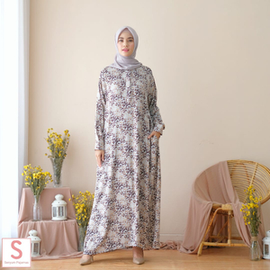 HOME DRESS MULTIFUNGSI Kode : Leksya Dress Leopard